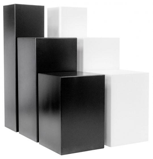 Standard plinths black and white