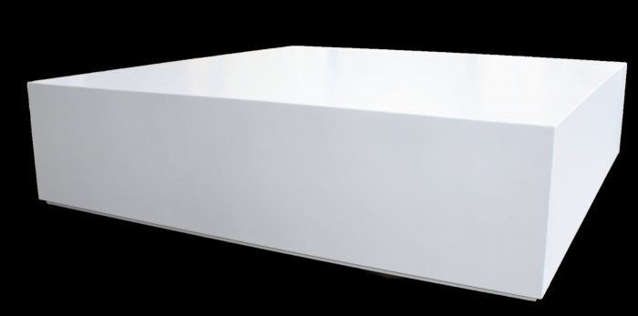 Custom plinth white
