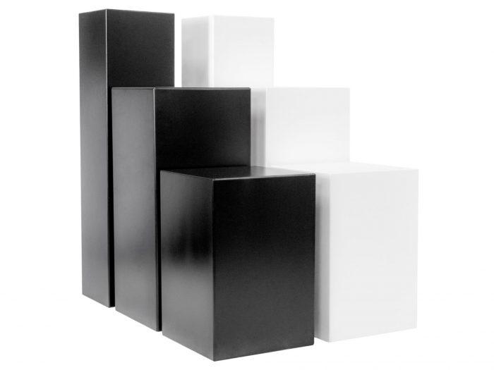 Standard plinths black and white