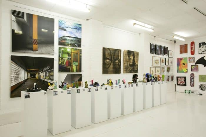 Plinth hire gallery wall view