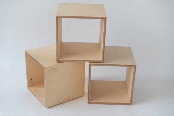 Furniture. Ply display cubes