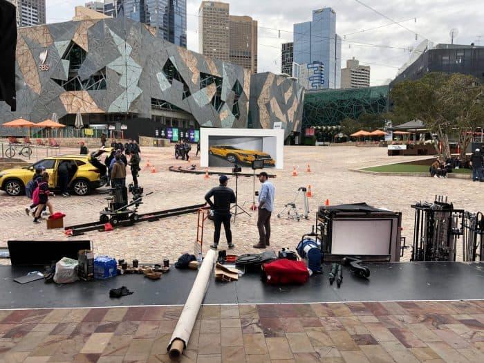 Kia ad filming
